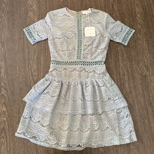 NWT Missguided Lace Icy Grey Dress